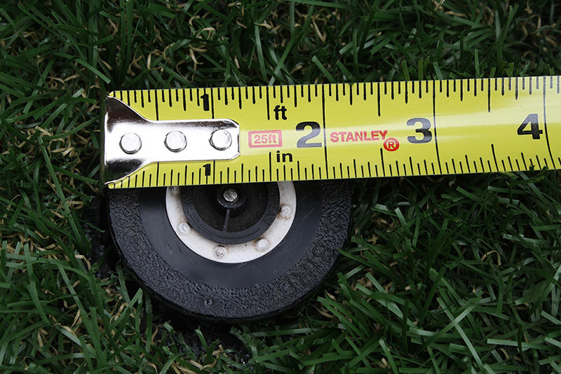 Measure your sprinkler heads